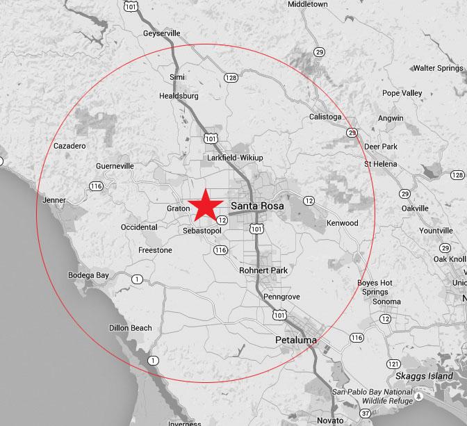 Sonoma Map