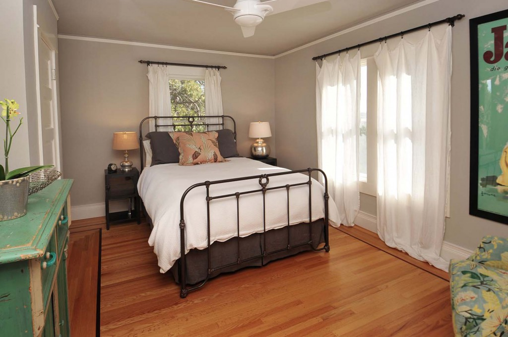 Main House | This bedroom has a private deck.