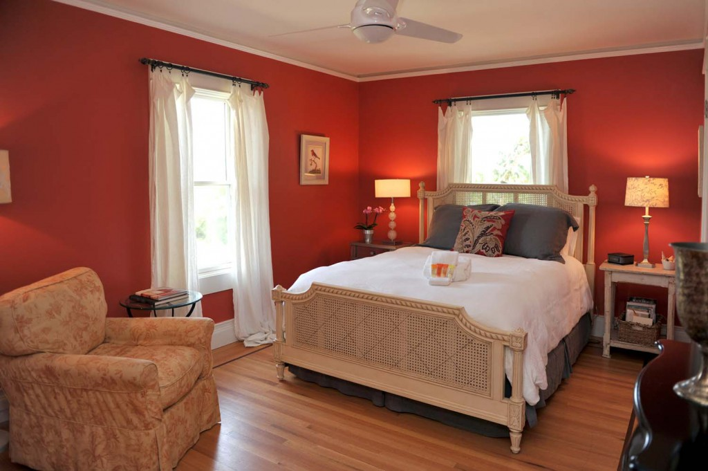 Main House | This bedroom is really cherry. Er, cheery.